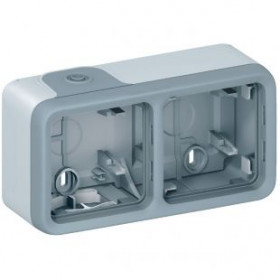 Коробка наружного монтажа 2-ая Legrand Plexo Серый 69672 IP55
