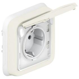 69869 Розетка IP55 электрическая влагозащищенная с крышкой скрытой установки Legrand Plexo влагозащищенный Белый