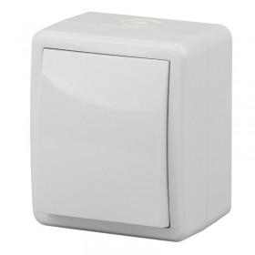 Выключатель IP54 одноклавишный с 2-х мест (переключатель) Эра Эксперт Белый 11-1403-01  (Б0020673)