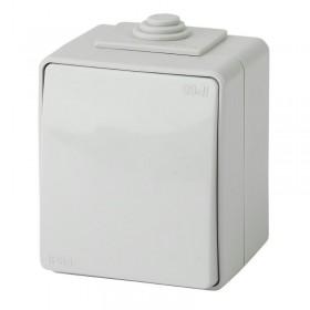 Выключатель IP65 одноклавишный Эра Эксперт серый 11-1601-03 (Б0035972)