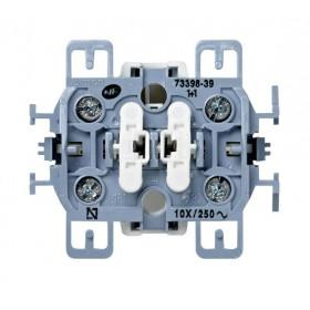 Механизм выключателя Simon 73 Loft 73398-39 IP20 двухклавишный