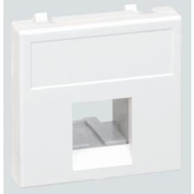 K076-9 Адатер для на 1 коннектора для розеток RJ45 без шторок, 45х45мм, БЕЛЫЙ