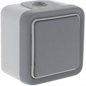 Выключатель Legrand Plexo Серый 69711 IP55 одноклавишный с 2-х мест накладной