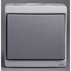 Выключатель Schneider Electric Mureva Серый ENN35721 IP55 одноклавишный