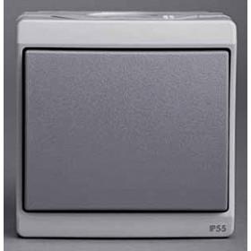 Выключатель Schneider Electric Mureva Серый ENN35723 IP55 одноклавишный с 2-х мест