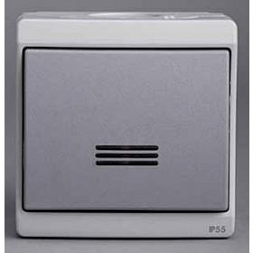 Выключатель Schneider Electric Mureva Серый ENN35727 IP55 одноклавишный с подсветкой Mureva