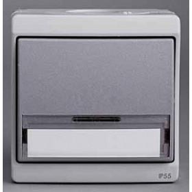 Нажимная кнопка Schneider Electric Mureva Серый ENN35730 IP55 с полем для надписи