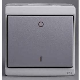 Выключатель Schneider Electric Mureva Серый ENN35733 IP55 одноклавишный двухполюсный