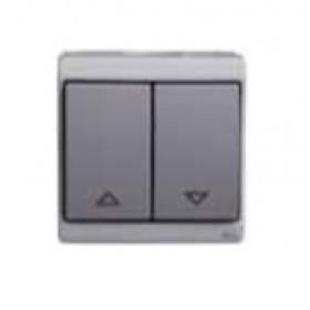 Выключатель Schneider Electric Mureva Серый ENN35741 IP55 для жалюзи с механической блокировкой