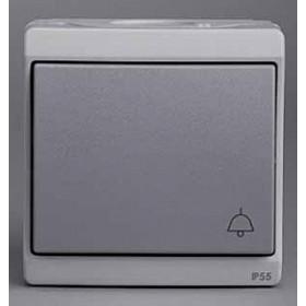 Нажимная кнопка Schneider Electric Mureva Серый ENN35760 IP55 с символом Звонок