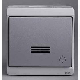 Нажимная кнопка Schneider Electric Mureva Серый ENN35762 IP55 с подсветкой с символом Звонок