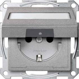 Розетка Merten System Design Алюминий MTN2312-0460 IP20