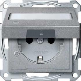 Розетка Merten System Design Алюминий MTN2313-0460 IP20