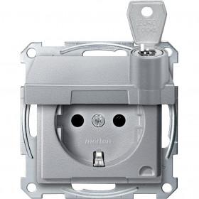 Розетка Merten System Design Алюминий MTN2315-0460 IP20