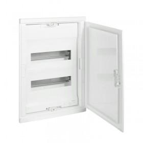 001412 Щит Legrand Nedbox встраиваемый на 24 модуля IP40 2х12+4 белая дверь