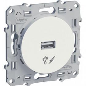 Розетка Schneider Electric Odace Белый S52R408 IP21 USB
