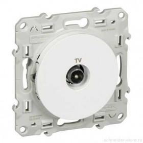 Розетка Schneider Electric Odace Белый S52R445 IP21 TV Одиночная
