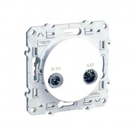 Розетка Schneider Electric Odace Белый S52R456 IP21 TV-R/SAT Проходная