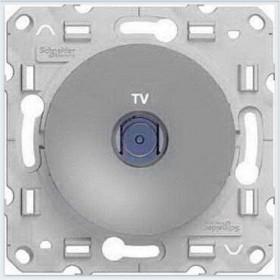 Розетка Schneider Electric Odace Алюминий S53R445 IP21 TV Одиночная