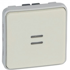 69613 Выключатель с 2-х мест с подсветкой Legrand Plexo влагозащищенный IP55, Белый
