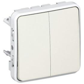 69625 Выключатель двухклавишный с 2-х мест Legrand Plexo влагозащищенный IP55 Белый