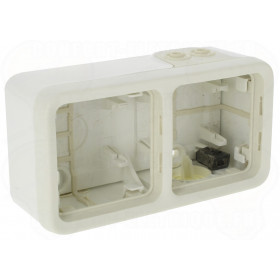 Коробка наружного монтажа 2-ая Legrand Plexo Белый 69690 IP55