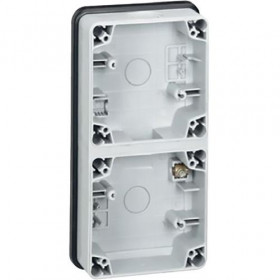 Коробка наружного монтажа 2-ая Legrand Plexo Серый 90492 IP55