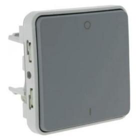 69530 Выключатель двухполюсный Legrand Plexo влагозащищенный IP55 Серый
