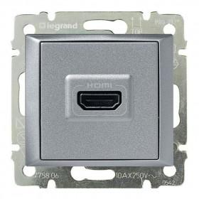 770285 Розетка HDMI Legrand Valena Алюминий