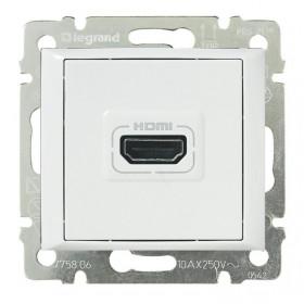 770085 Розетка HDMI Legrand Valena Белый