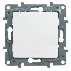 672203 Выключатель одноклавишный с подсветкой Legrand Etika Белый