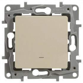 672315 Выключатель-переключатель одноклавишный с 2-х мест с подсветкой Legrand Etika Слоновая кость