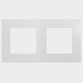 672502 Рамка 2 поста Legrand Etika Белый