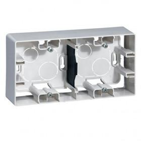 672530 Коробка 2 поста накладного монтажа Legrand Etika Белый