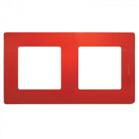 672532 Рамка 2 поста Legrand Etika Красный
