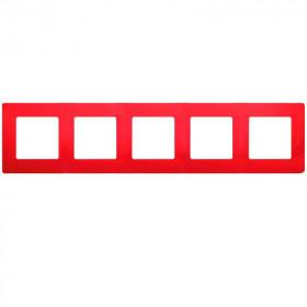 672535 Рамка 5 постов Legrand Etika Красный