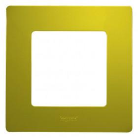 672541 Рамка 1 пост Legrand Etika Зелёный папоротник