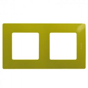 672542 Рамка 2 поста Legrand Etika Зелёный папоротник