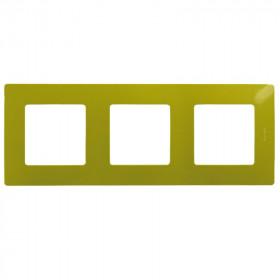 672543 Рамка 3 поста Legrand Etika Зелёный папоротник
