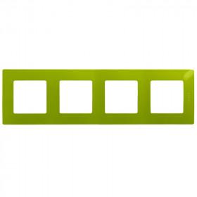 672544 Рамка 4 поста Legrand Etika Зелёный папоротник