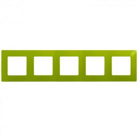 672545 Рамка 5 постов Legrand Etika Зелёный папоротник