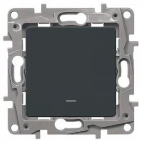 672615 Выключатель-переключатель одноклавишный с 2-х мест с подсветкой Legrand Etika Антрацит