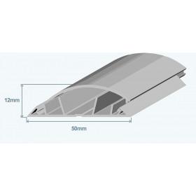 10110 CCZ Напольный короб Efapel 50х12 мм пластиковый полукруглый, Серый