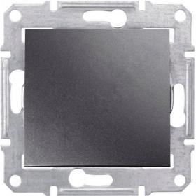 Выключатель одноклавишный IP44 скрытой установки Schneider Electric Sedna Графит SDN0100370