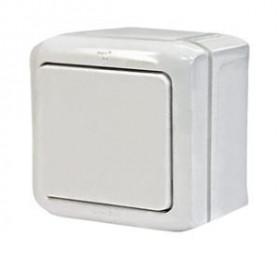 Нажимная кнопка Legrand Quteo Белый 782305 IP44 одноклавишная
