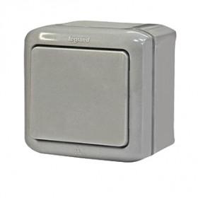 Нажимная кнопка Legrand Quteo Серый 782335 IP44 одноклавишная
