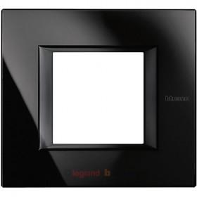 Рамка 1-ая Bticino Axolute Стекло черное HA4802VNN IP20