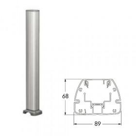 ISM20205 Мини-колонна 1-сторонняя 0,70 м на 12 мех-мов 45*45мм с отверстием(OptiLine 45), Алюминий