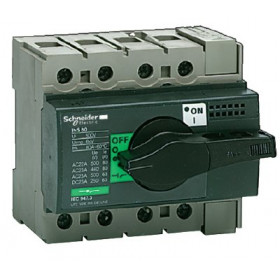 28903 Выключатель нагрузки(рубильник) Interpact Compact  INS63 4-полюса 63А с чёрной ручкой
