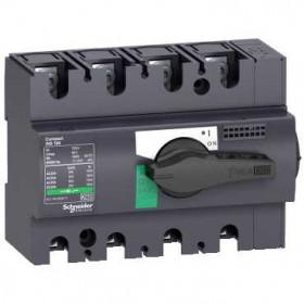 28908 Выключатель нагрузки(рубильник) Interpact Compact  INS100 4-полюса 100А с чёрной ручкой